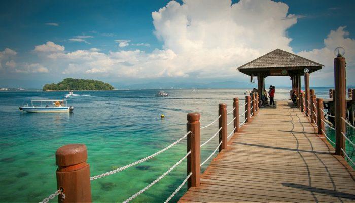 The pier at Manukan Island, off the coast of Sabah