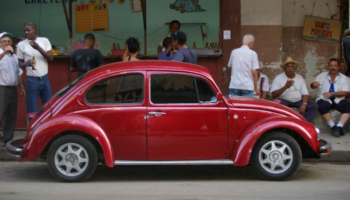 gorgeous red cuban car
