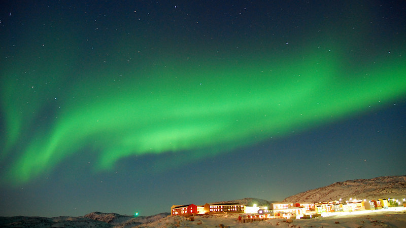 Where to see northern lights - Image c/o Greenland Travel, Flickr