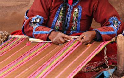 Inca woman weaving