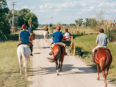 Peregrine travellers on horseback in Argentina
