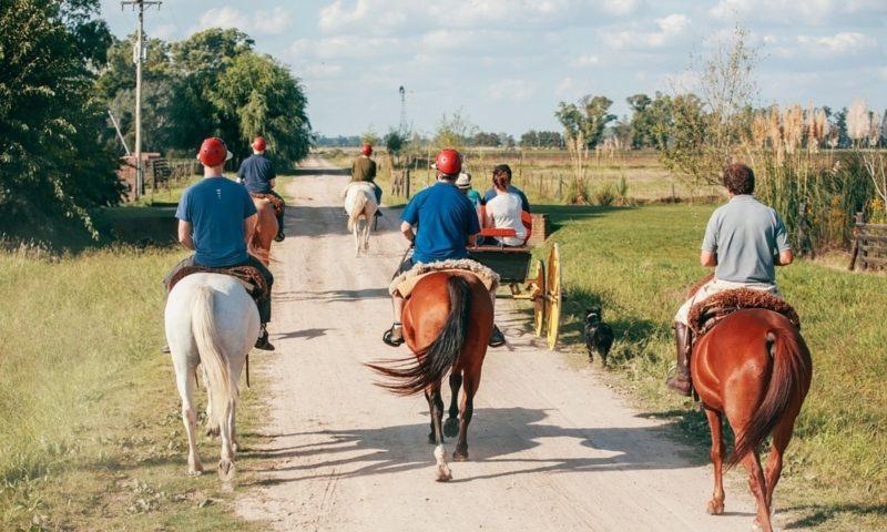 Peregrine travellers on horseback in Argentina
