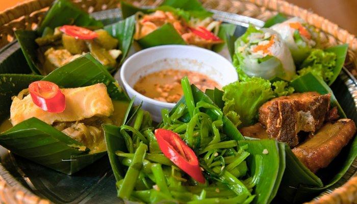 A Cambodian feast