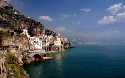 View along the Amalfi Coast