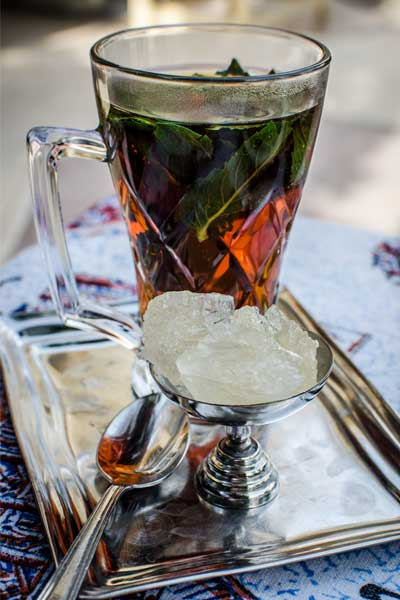 Iran group tour iced tea