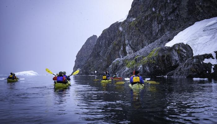 Sea kayaking on the Antarctic Peninsula