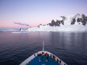 Ship on the Drake Passage Antarctica