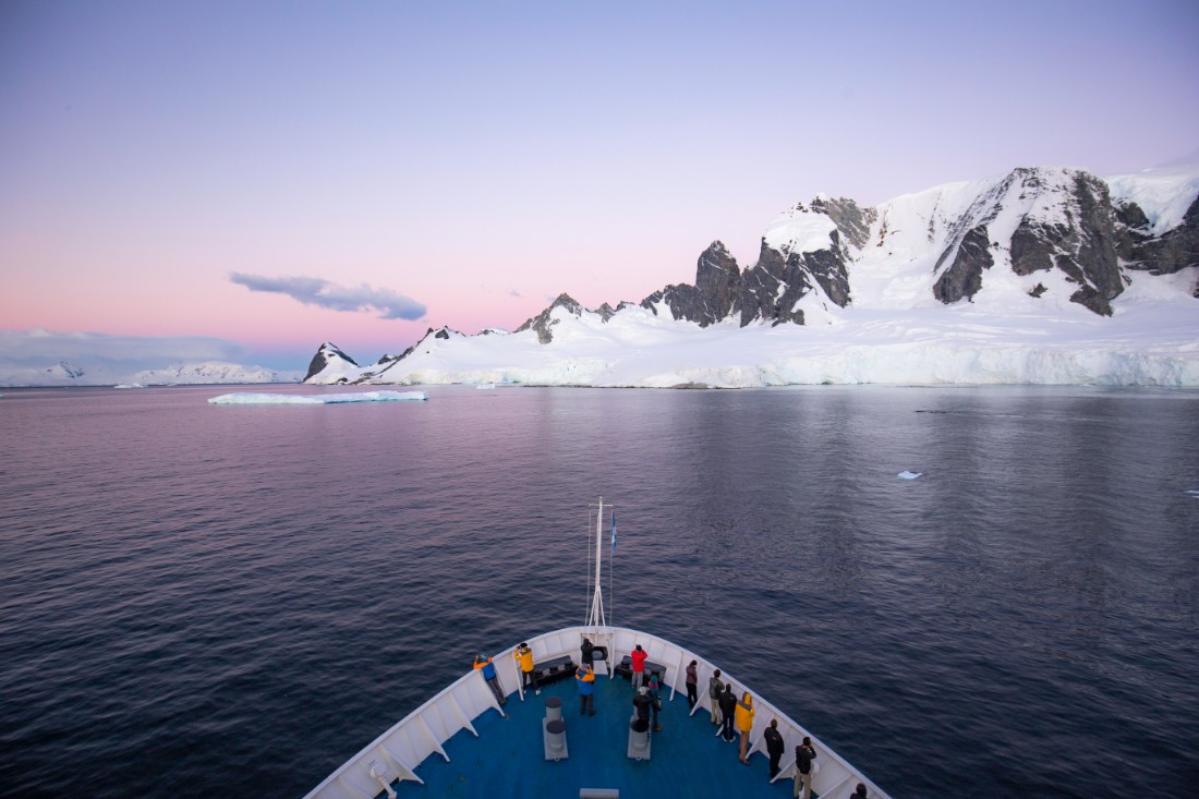 Ship on the Drake Passage Antarctica