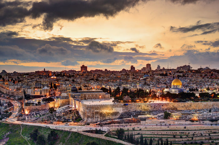 A map of Jerusalem's most iconic sights