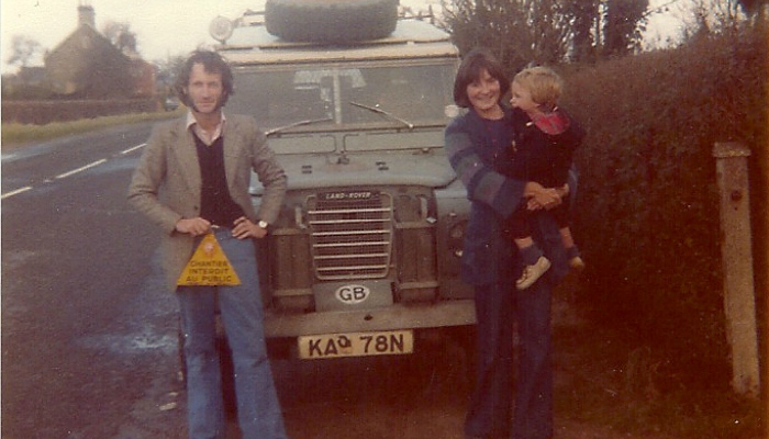 Family of travellers on the Hippie Trail