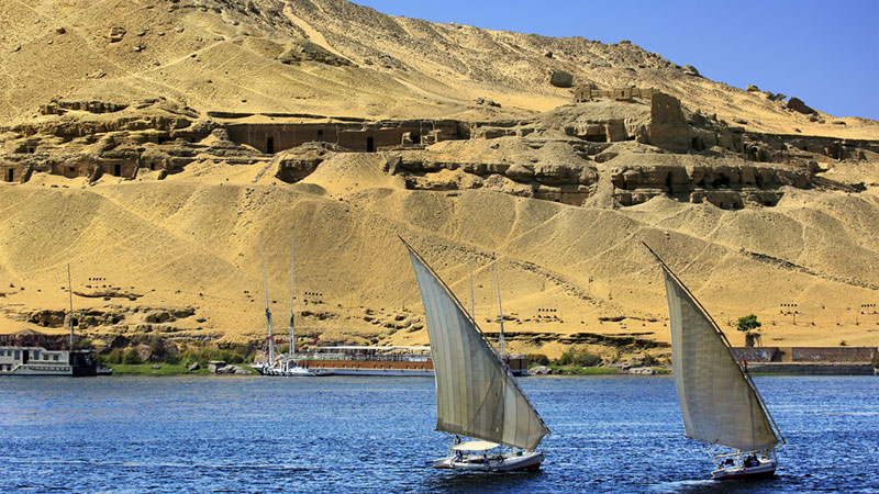 Tombs of the Nobles at Aswan, Egypt