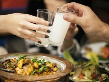 Drinking raki in Turkey