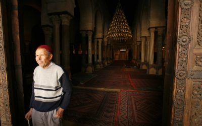 Muslim man in mosque