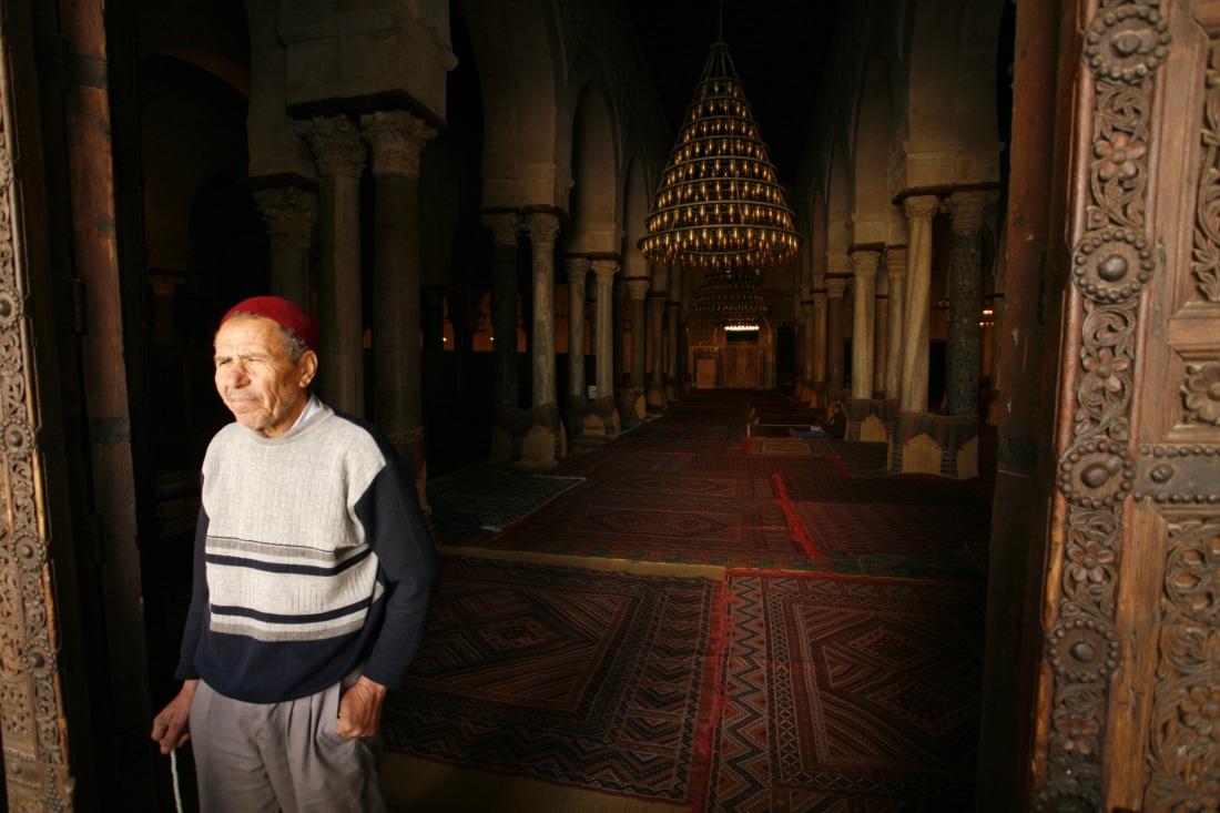 Muslim man in mosque
