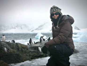 Author Jen Adams in Antarctica