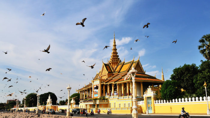 Phnom Penhs Royal Palace Pavilion in Cambodia