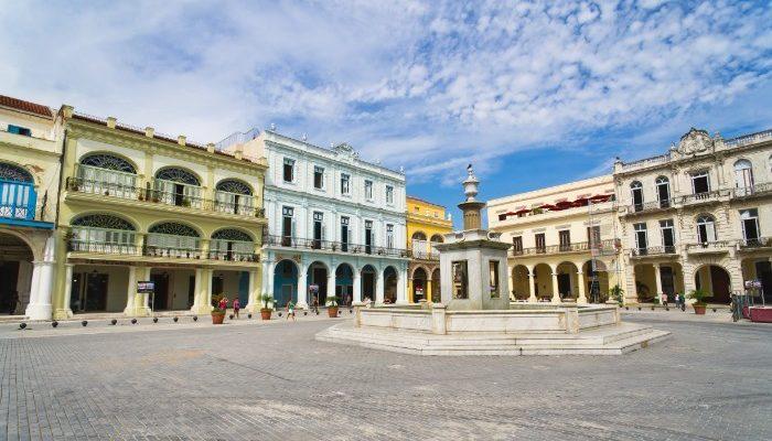 Plaza in Old Havana, Cuba
