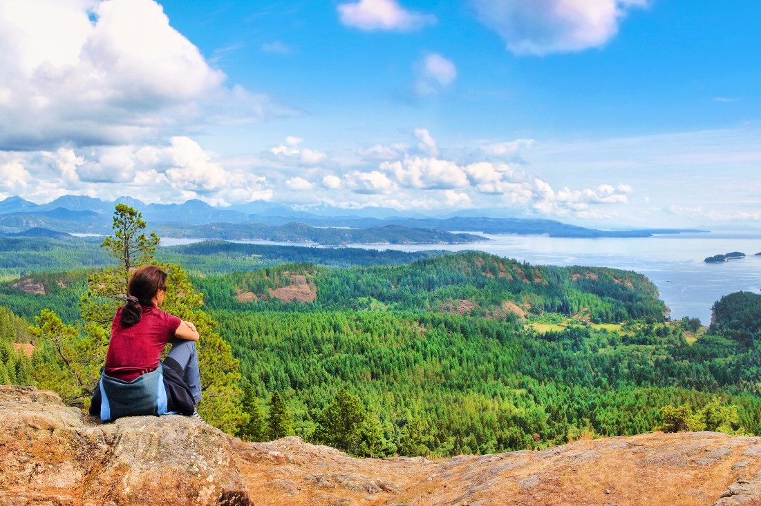 Looking out over Vancouver Island