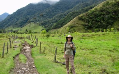 Marie hiking in the Cocora Valley