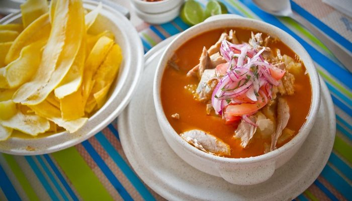 A delicious fish stew in the Galapagos Islands