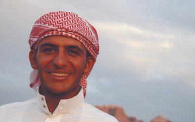 smiling Bedouin man