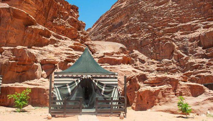 Our Desert Camp in Wadi Rum.