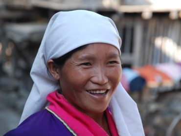 local Cambodian woman smiling