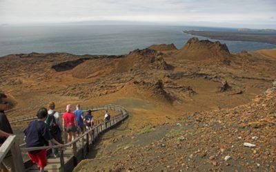 group walking summit trail Galapagos
