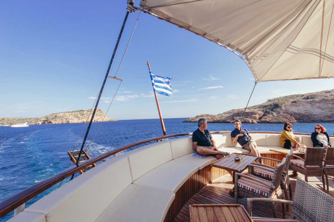 Adventure cruising in Greece