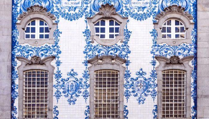 Tiled facade in Porto