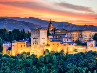 Views of the Alhambra and Sierra Nevada range