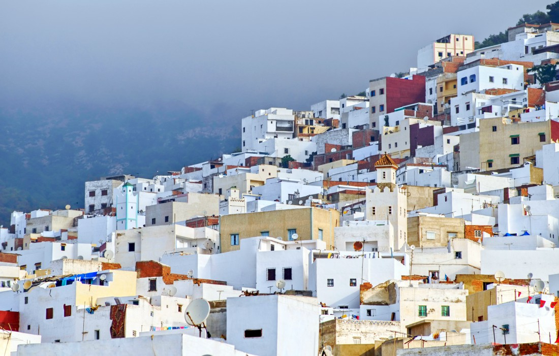 The whitewashed casbah of Tangier, Morocco