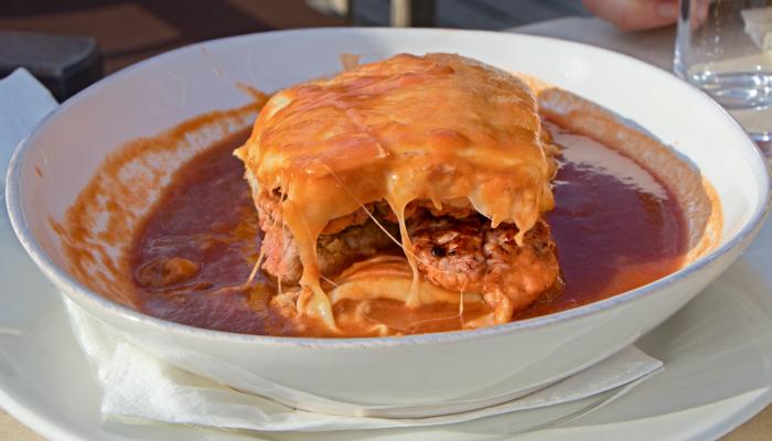 A Portuguese francesinha sandwich