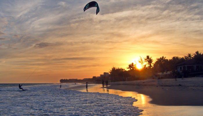 Sunset at Mui Ne beach.