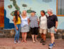 Tour group in Galapagos