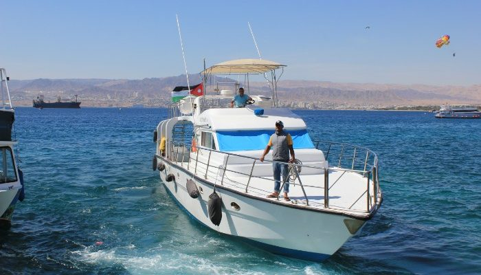 boat on Red Sea, Aqaba