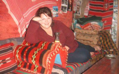 Carla in her bedouin tent