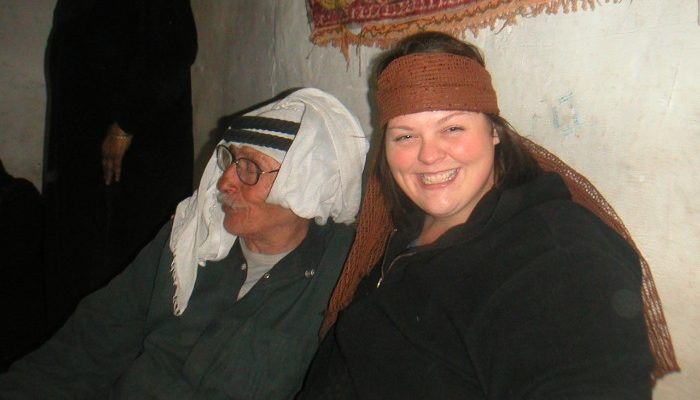 Carla with Monsor, her Bedouin father.