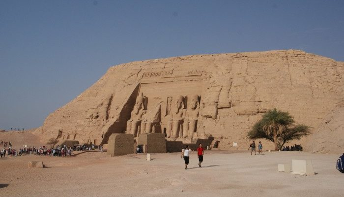 The Temple of Abu Simbel.