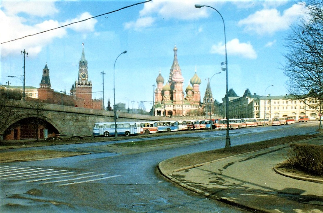 the backside of St Basils Basilica - heading over to Red Square - no people no cars
