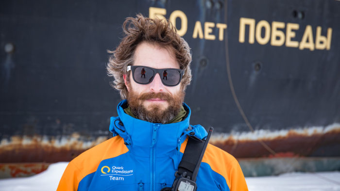 Solan Jensen, an expedition leader in the Arctic.