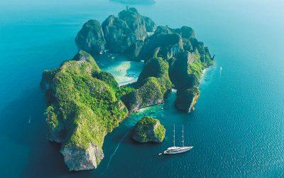 Ko Phi Phi, Thailand aerial view
