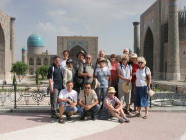 Peregrine group at Registan Square