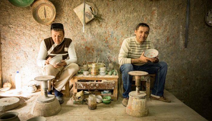 Gidjuvan pottery Uzbekistan