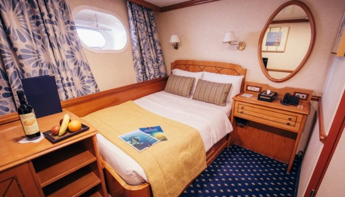 A comfortable cabin on an adventure cruise