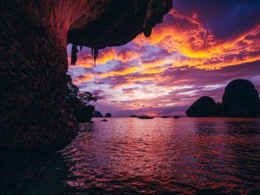 Beautiful sunset on a Thai beach