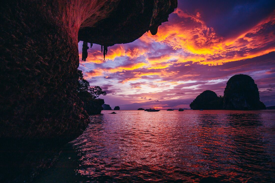 Beautiful sunset on a Thai beach