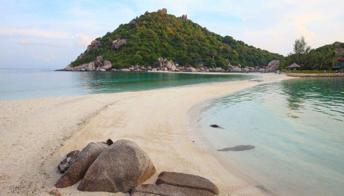 Beautiful sandy beach in Thailand