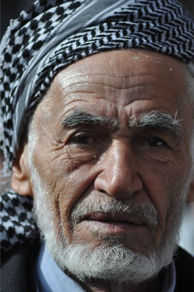 Up close photo of man in Erbil, Iraq