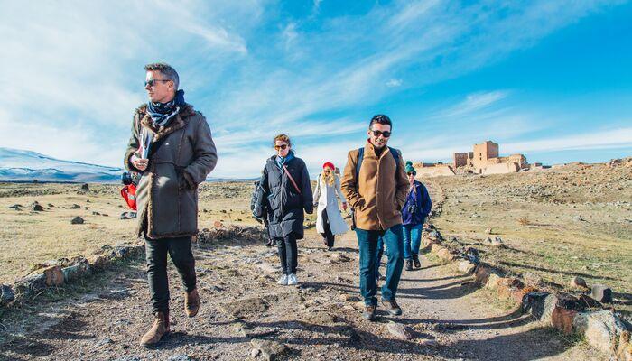 travellers in Kars, Turkey
